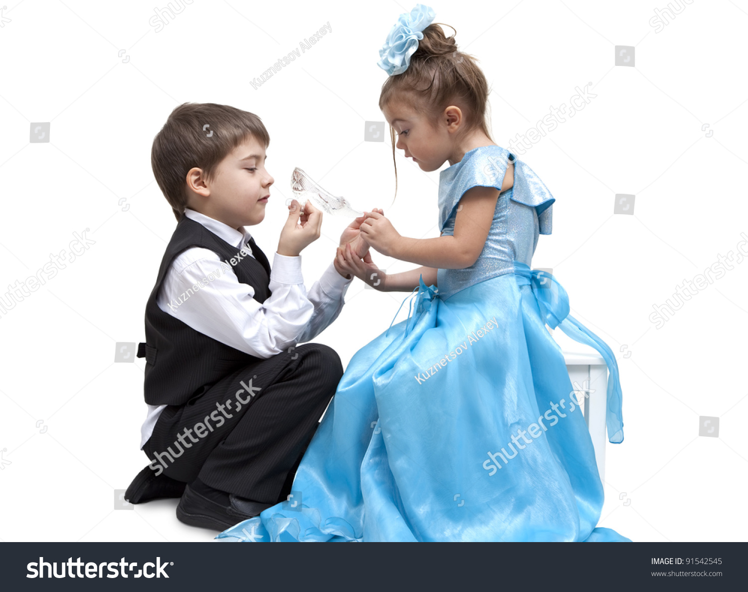 pre order outlet boutique best sale Little Boy Fitting Glass Slipper Onto Stock Photo (Edit Now ...