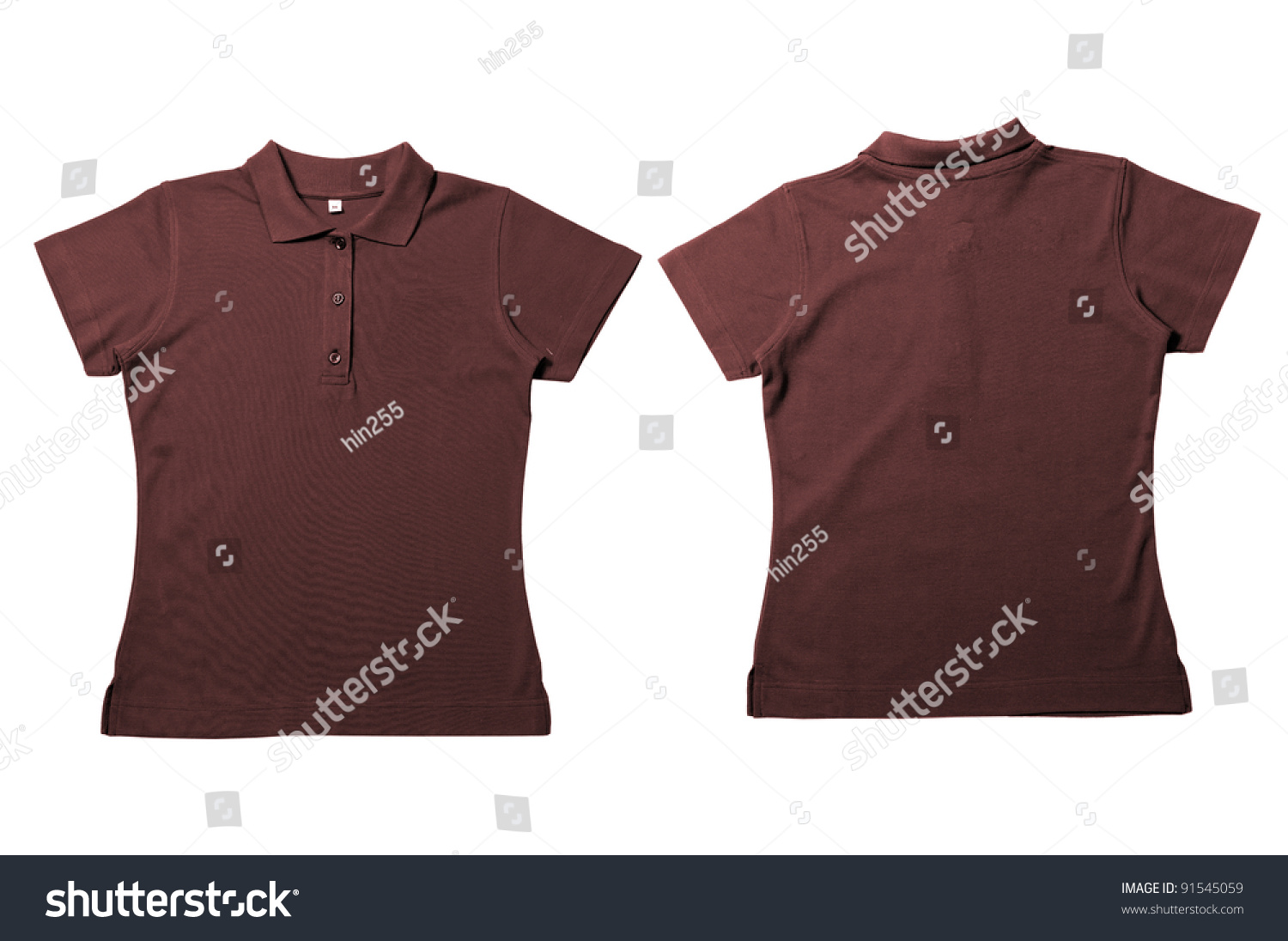 Vintage Dark Brown Female Color Polo Stock Photo Edit Now 91545059