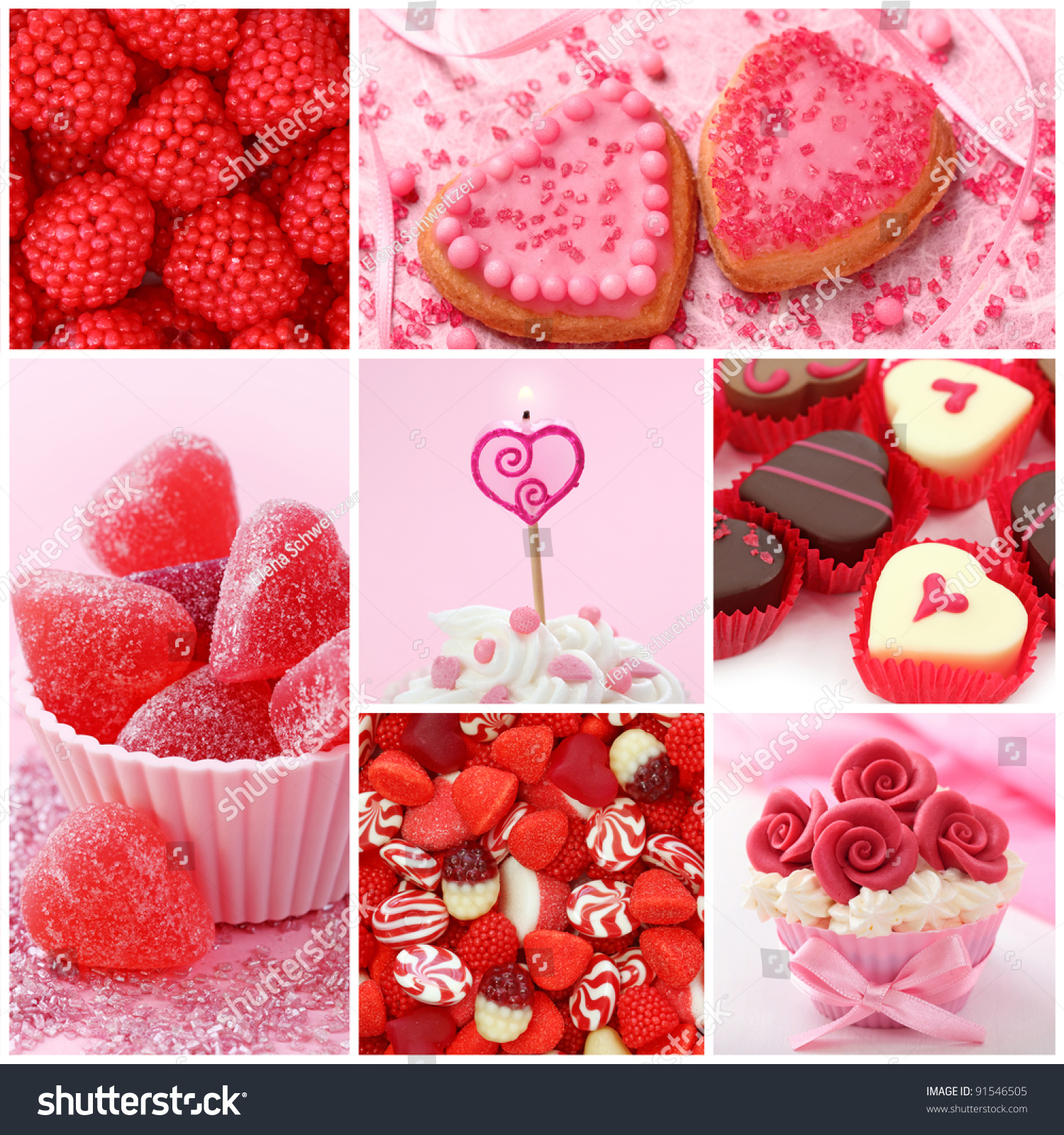 Sweets For Valentineu0027s Day Collage