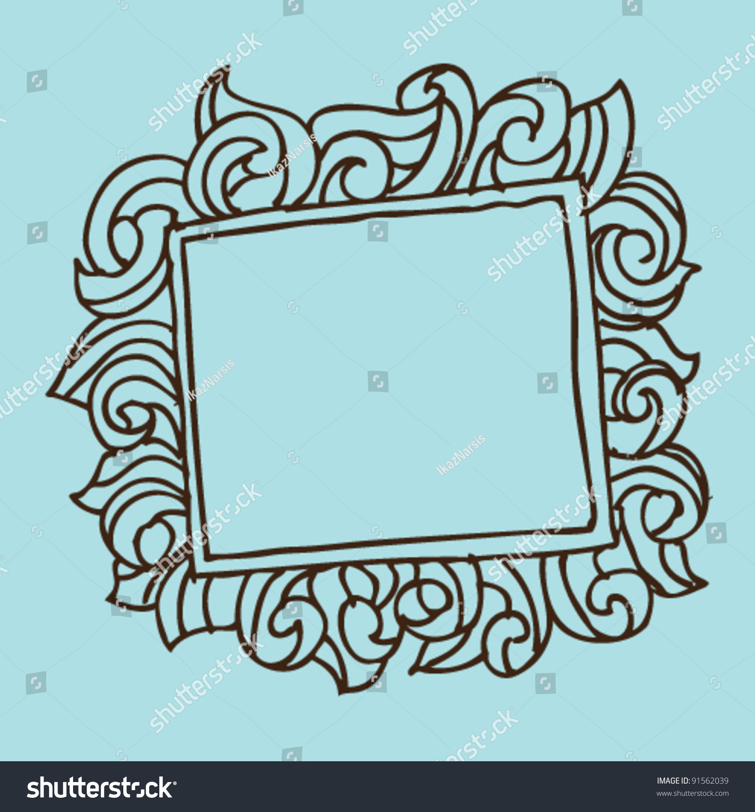 Doodle Hand Draw Frame Stock Photo (Photo, Vector, Illustration ...