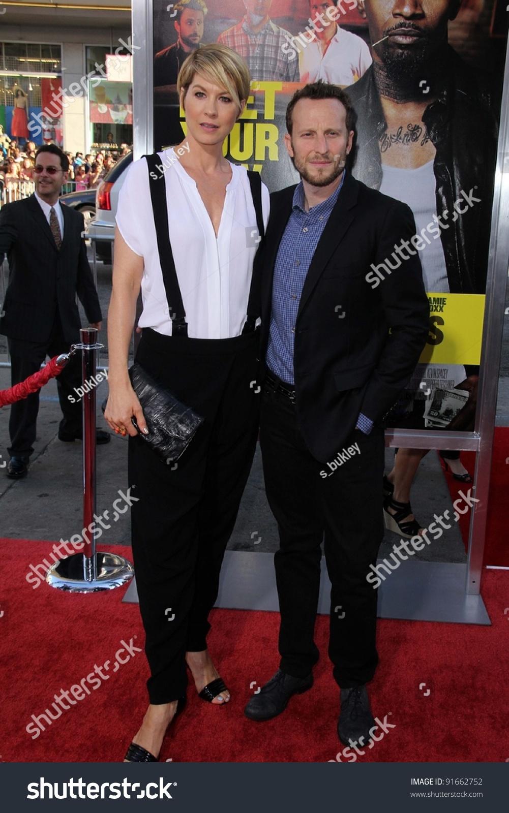 Jenna Elfman Bodhi Elfman At The Horrible Bosses Los Angeles