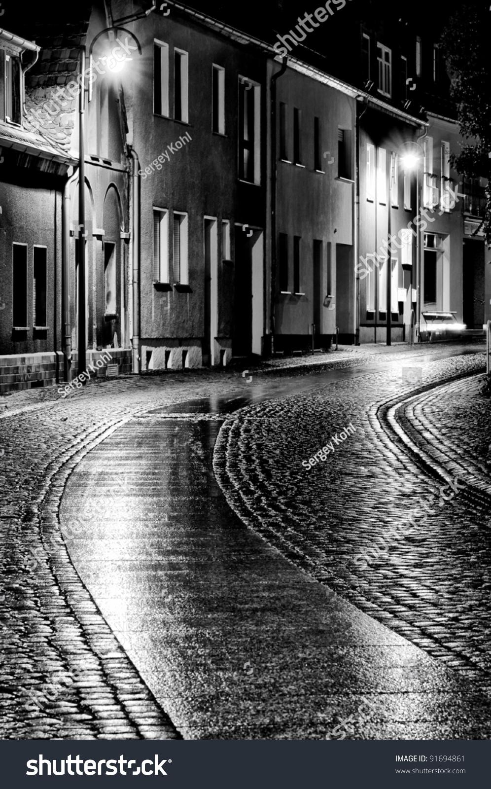 City Streets Old City Black White Stock Photo 91694861 ...