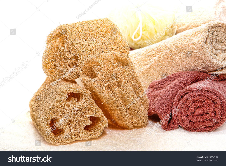 Natural Loofah Skin Cleansing Care Exfoliating Stock Photo Edit