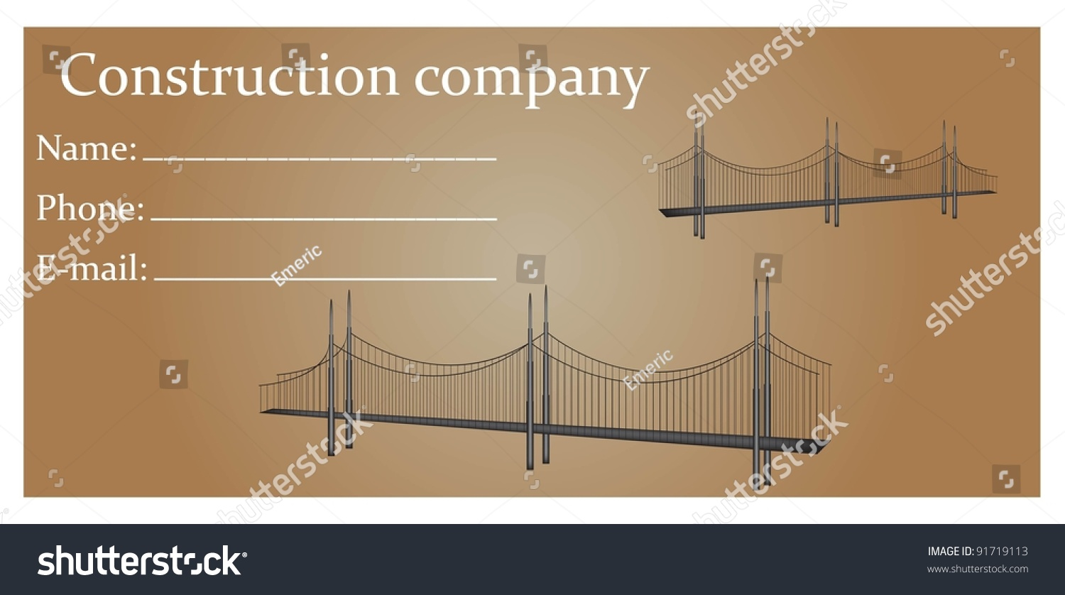Business card construction companies stock vector 91719113 business card for construction companies magicingreecefo Images