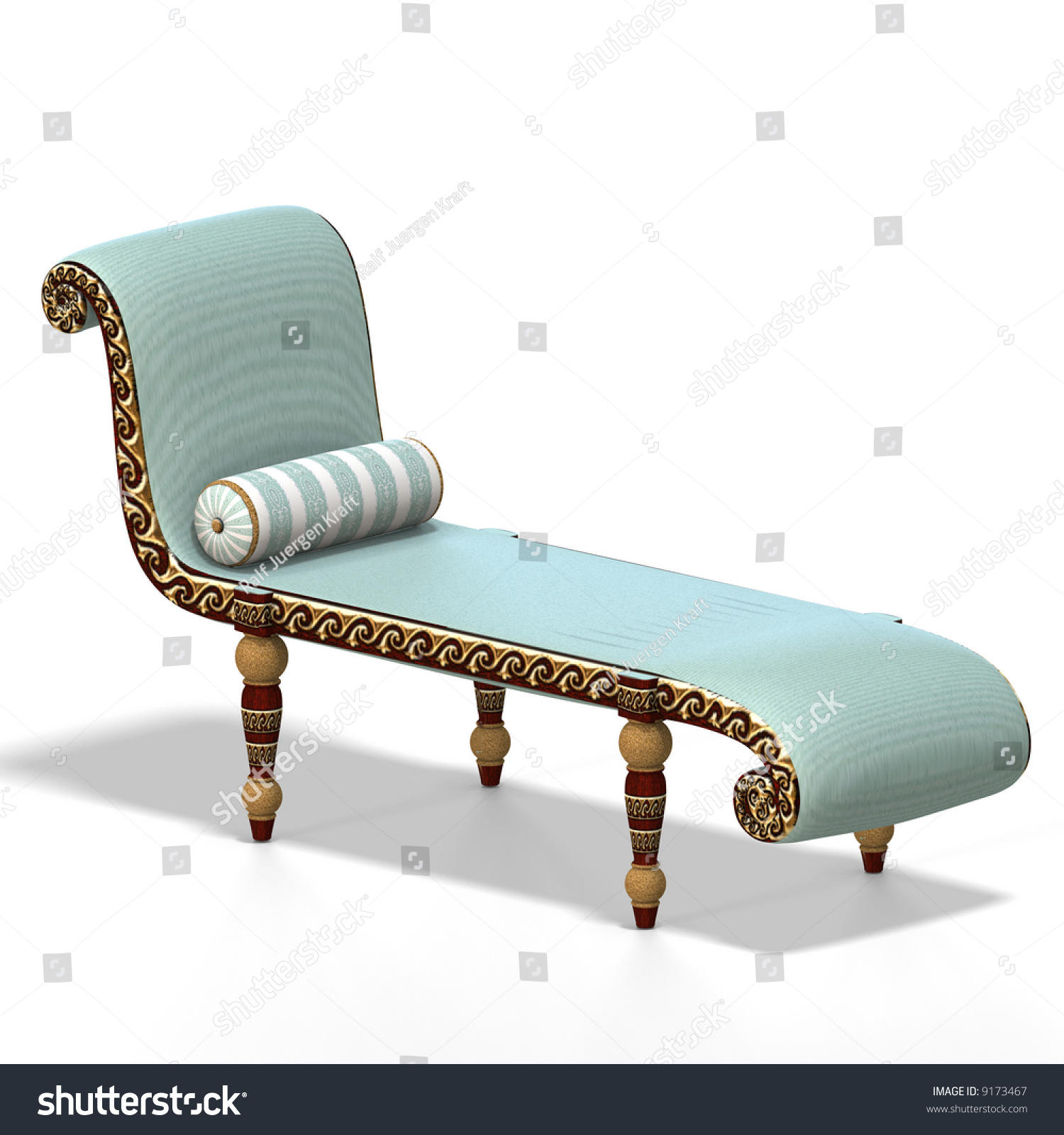 old fashioned couch or sofa with Clipping Path