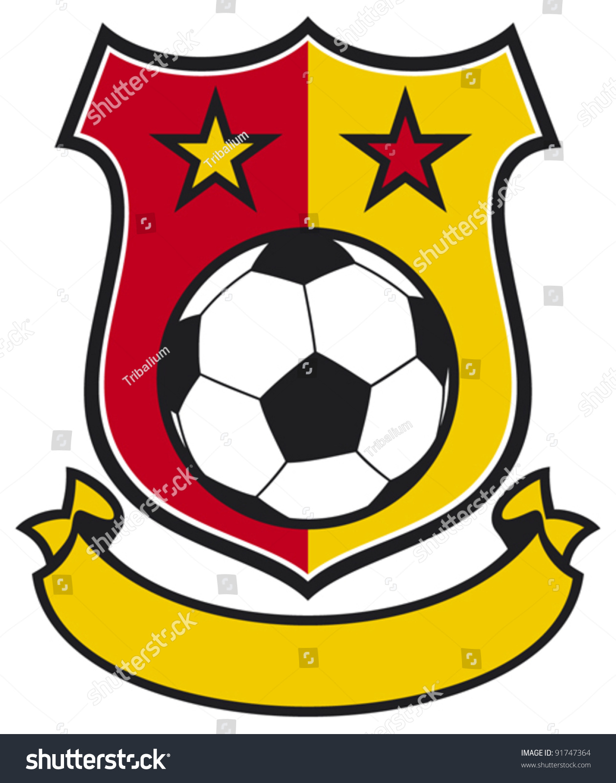 Football Club Soccer Symbol Emblem Design Stock Vector Royalty Free