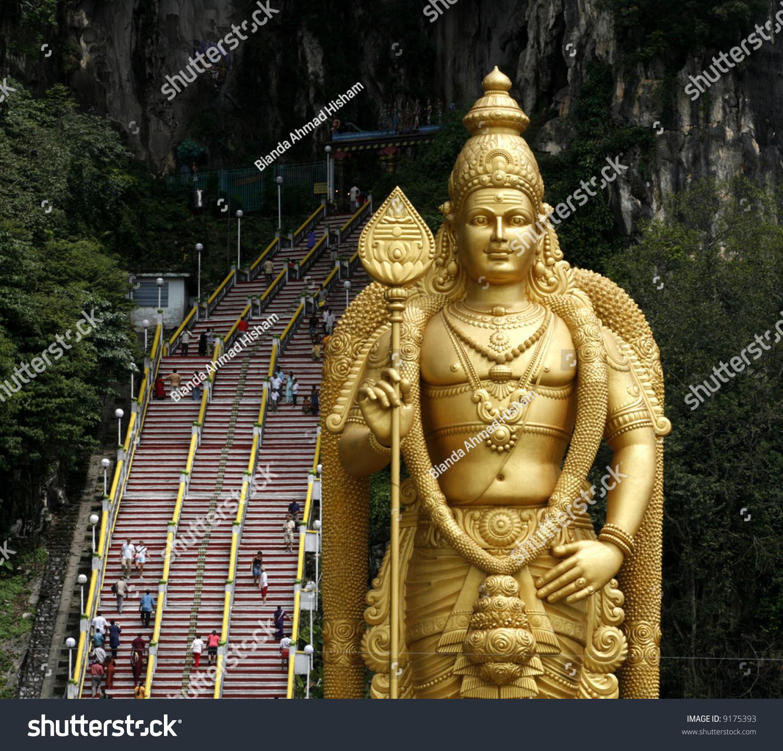 Malaysia Murugan: Giant Statue Of Lord Murugan At Batu Caves Temple In Kuala