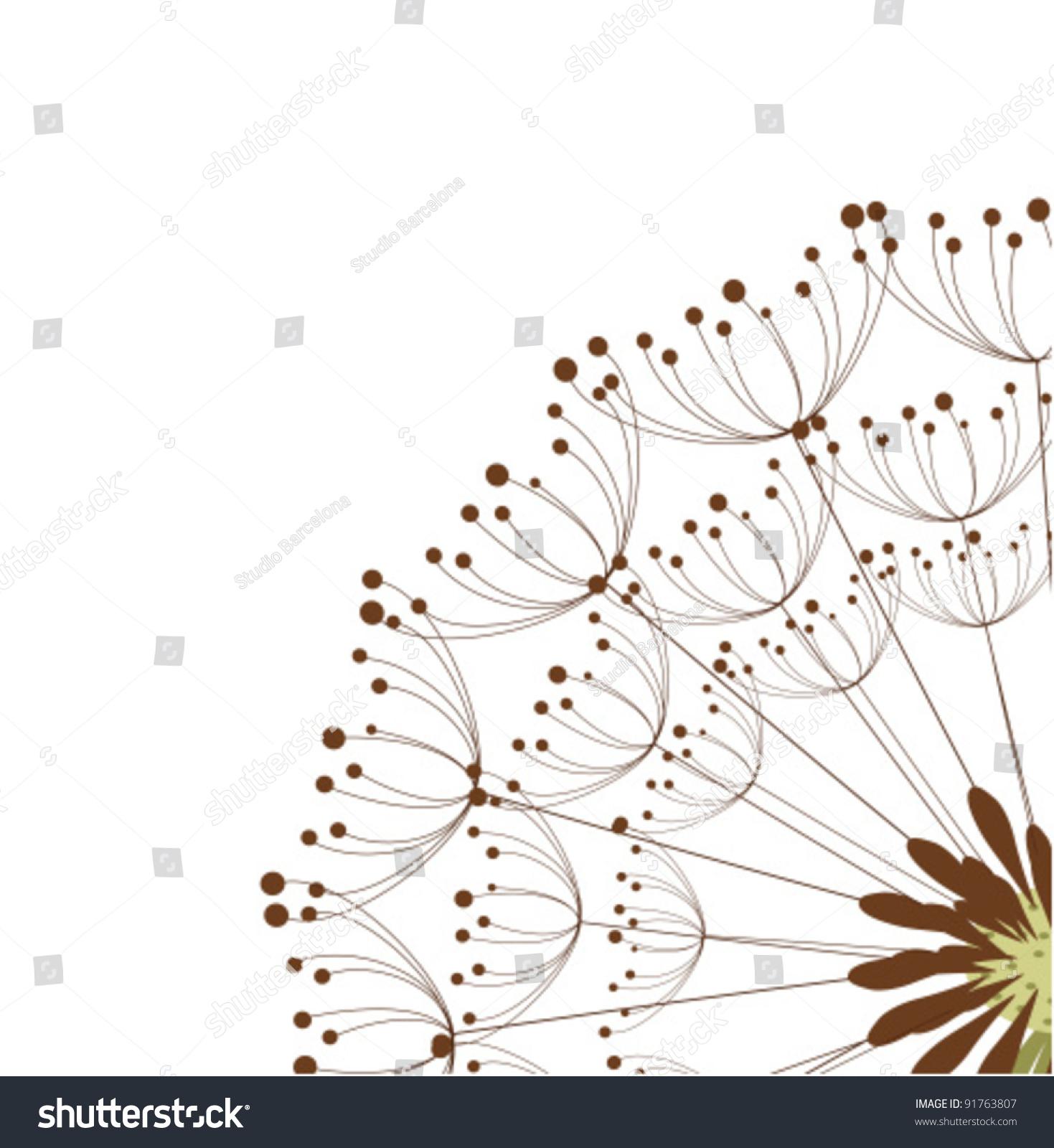 Close dandelion flower vector illustration stock vector 91763807 close up of dandelion flower vector illustration pooptronica Images