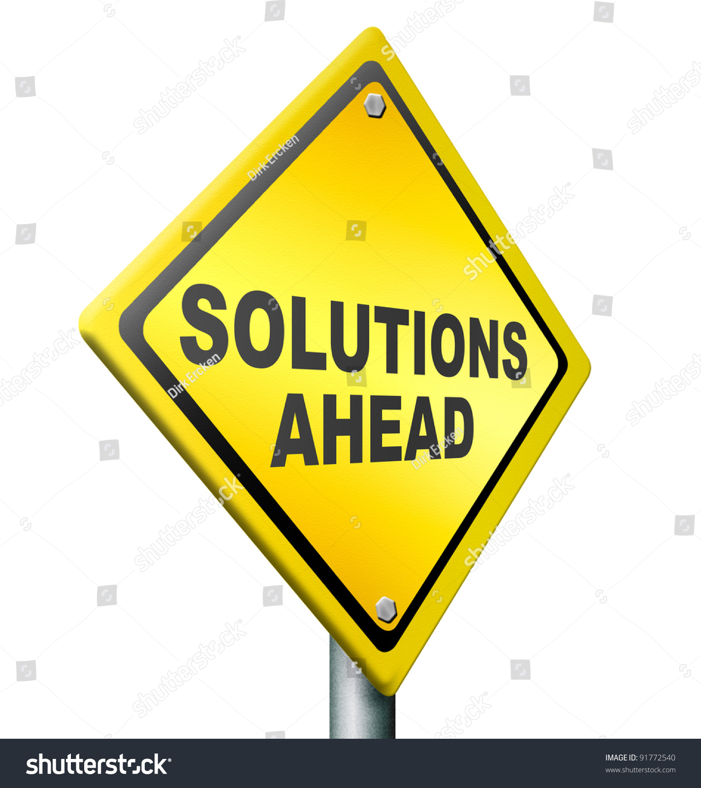 Problem Yellow Warning Sign Caution Trouble Issue Stock: Solution Ahead, Answer To Solve All Your Problems