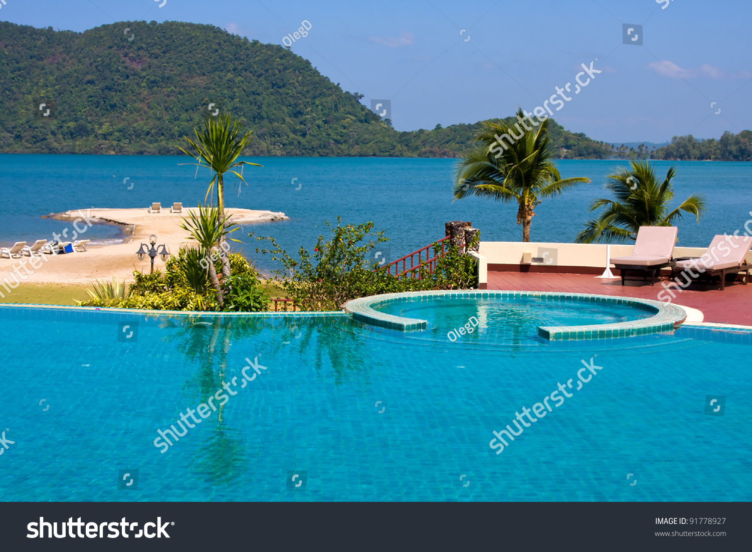 Swimming Pool Water Near The Sea Thailand Stock Photo 91778927 Shutterstock