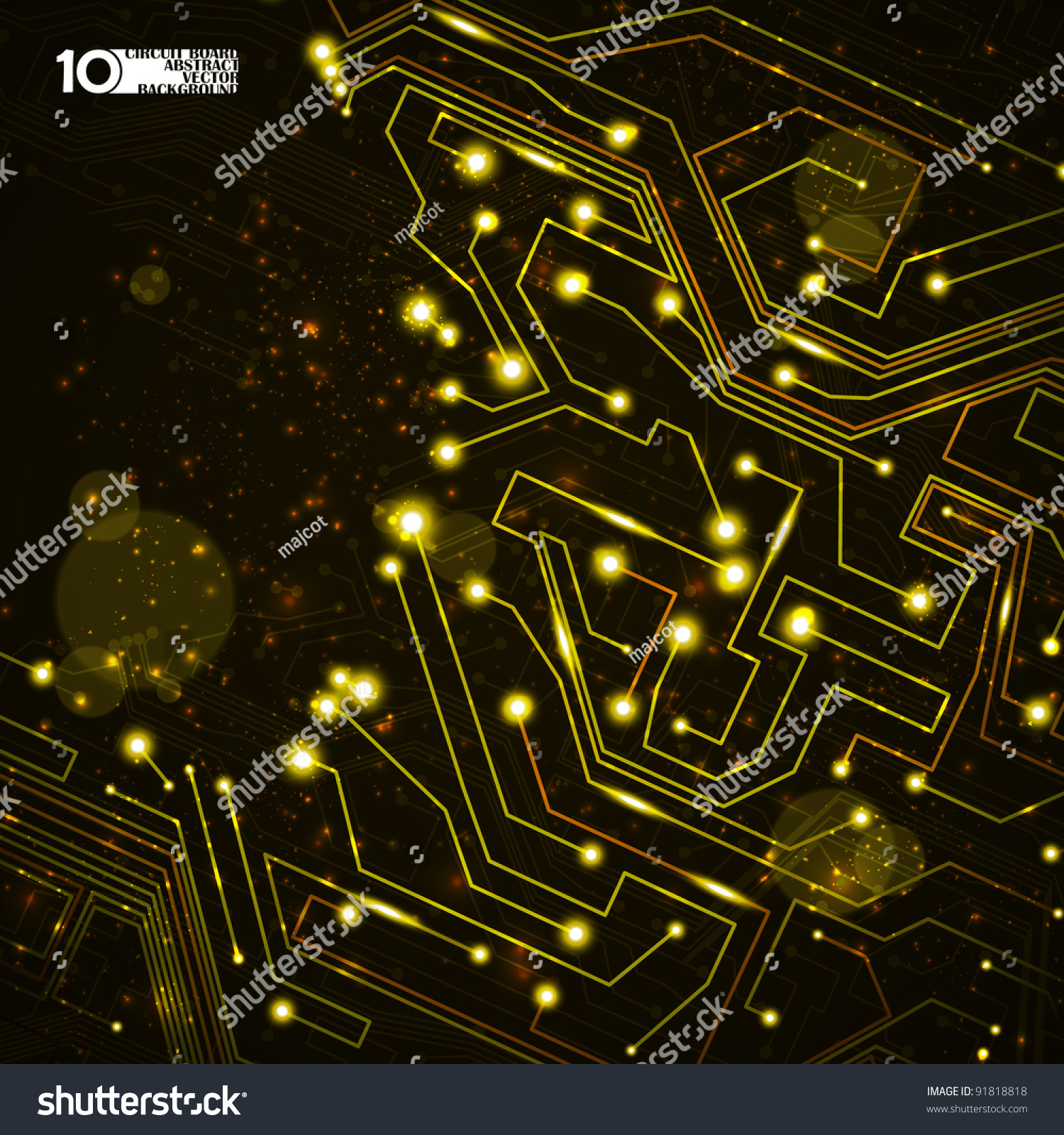 Circuit Board Vector Background Technology Illustration Stock Paper Backgrounds Blue Electronic Circuits Hd Eps10