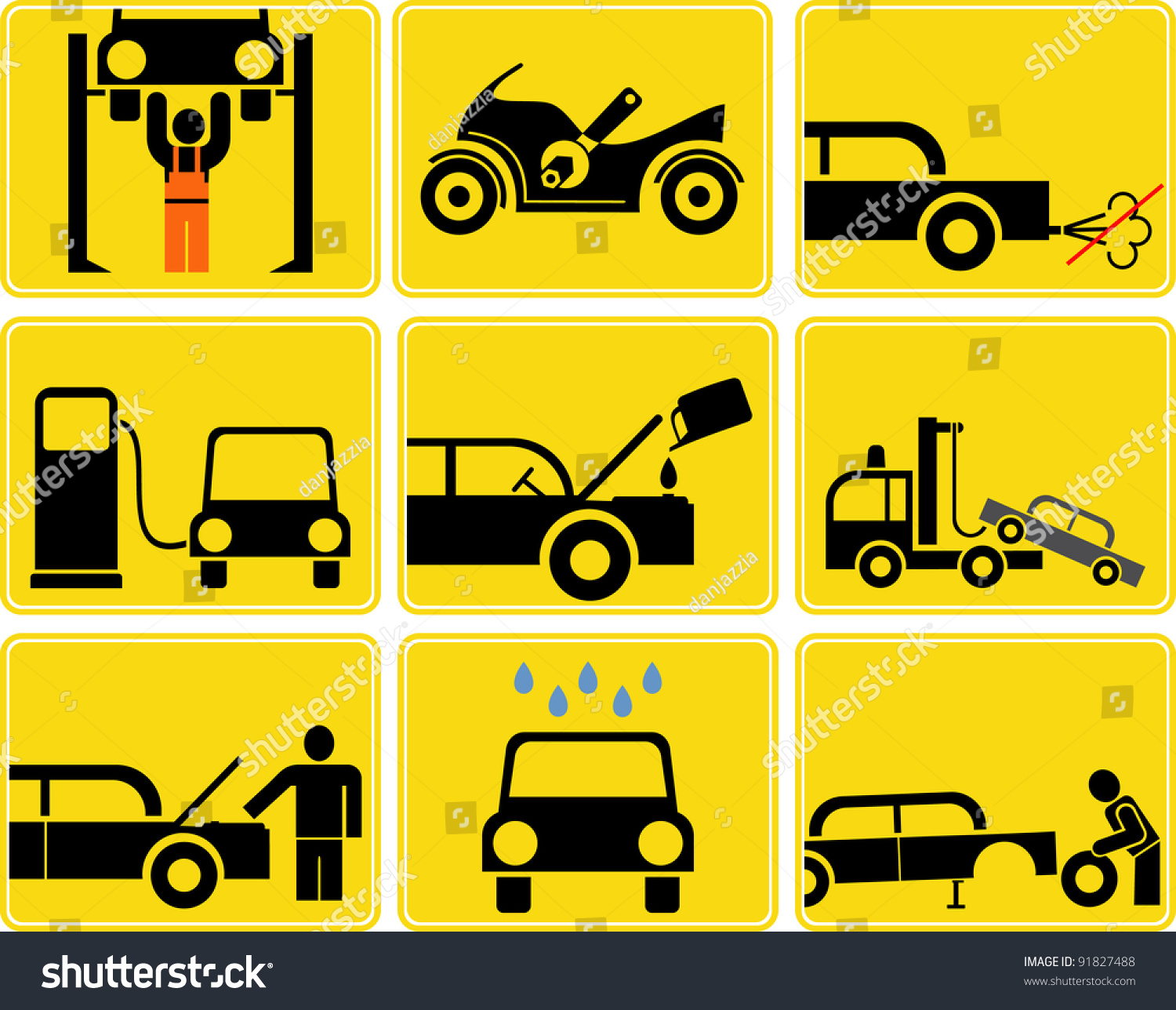 Stock Vector Car And