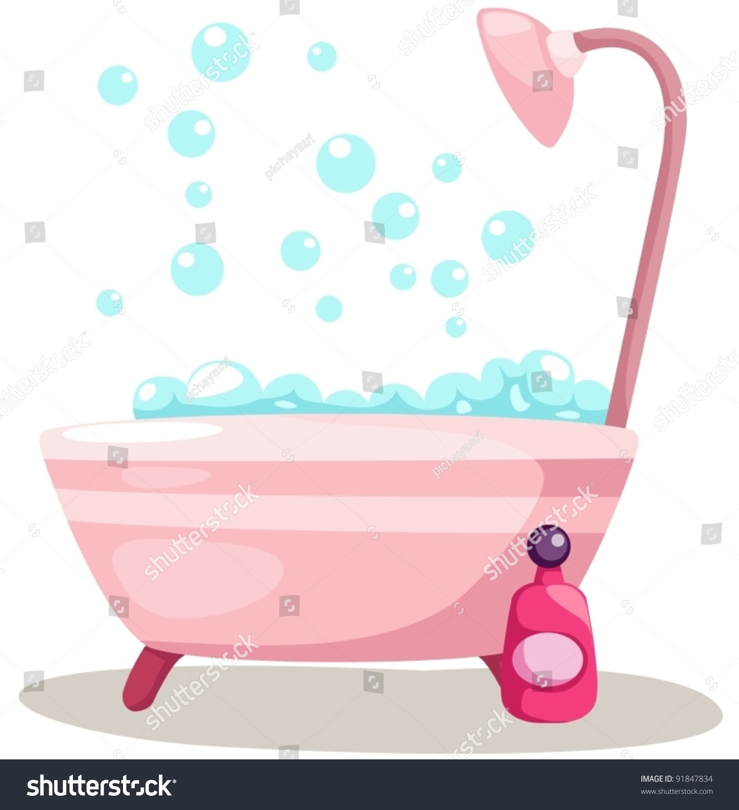 Illustration Of Isolated A Bathtub On White Background