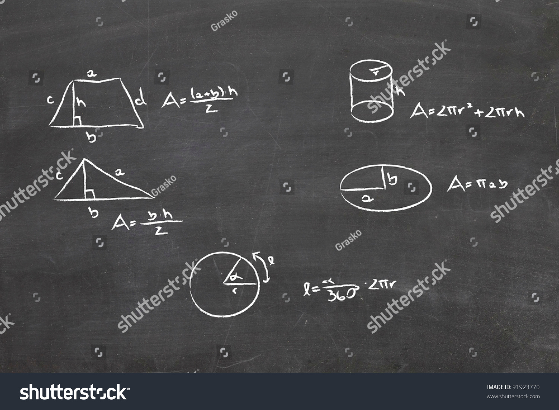 Math Problem On Whiteboard On Chalkboard Stock Illustration 91923770 ...