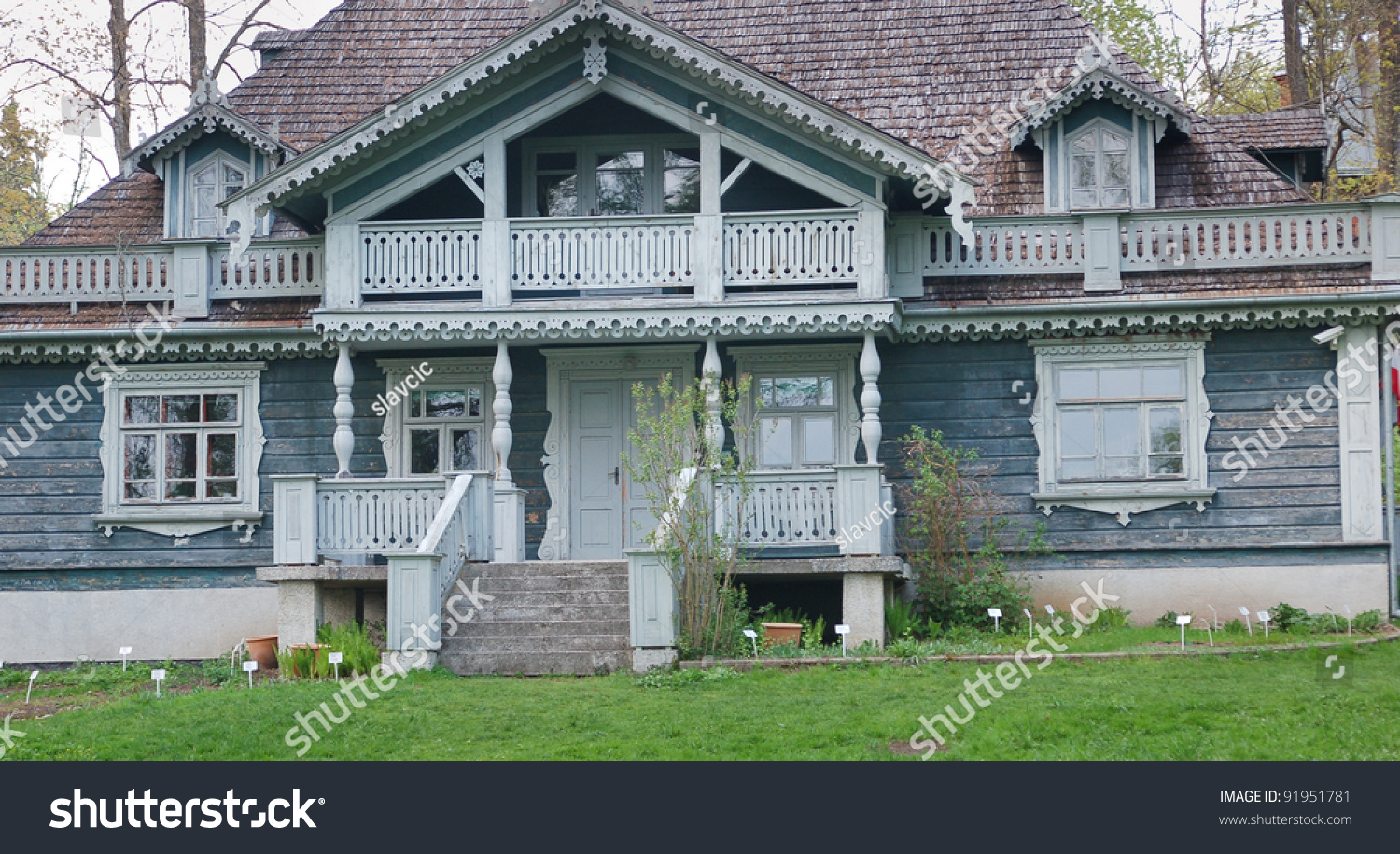 Traditional Polish Noble House Stock Photo 91951781 Shutterstock