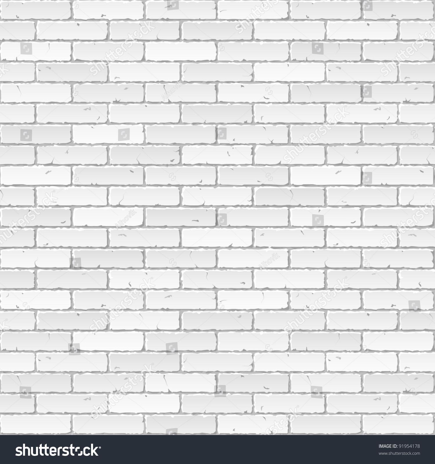 White Brick Wall Vector 91954178 Shutterstock