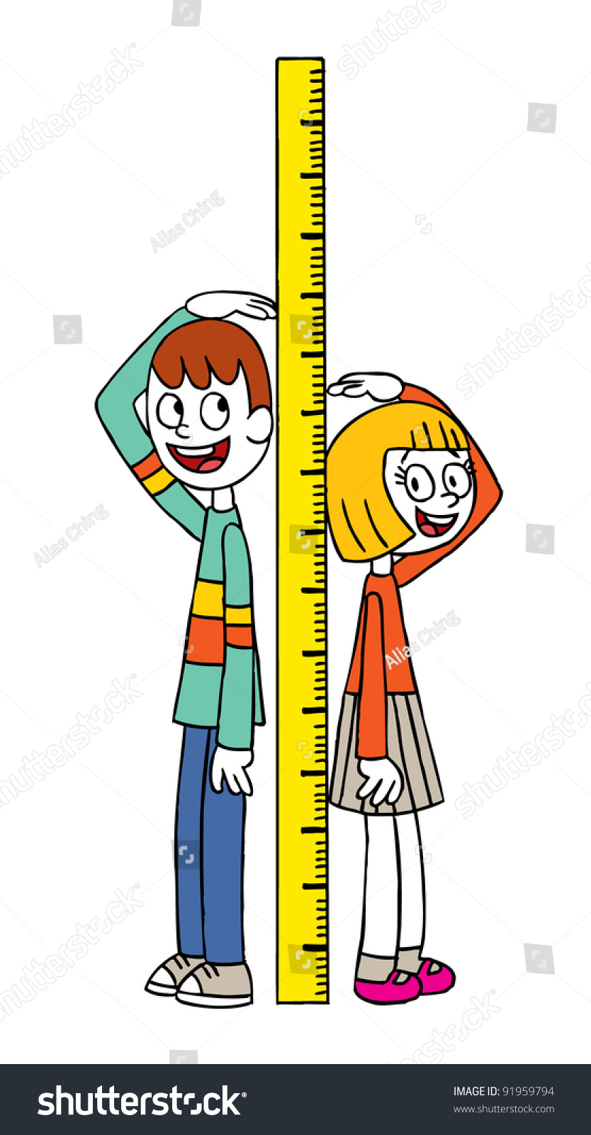 Height Measure Stock Vector 91959794 - Shutterstock
