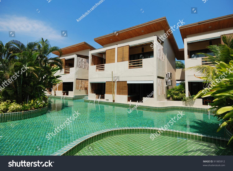 Swimming Pool Best Resort Huahin Thailand Stock Photo (Royalty Free ...