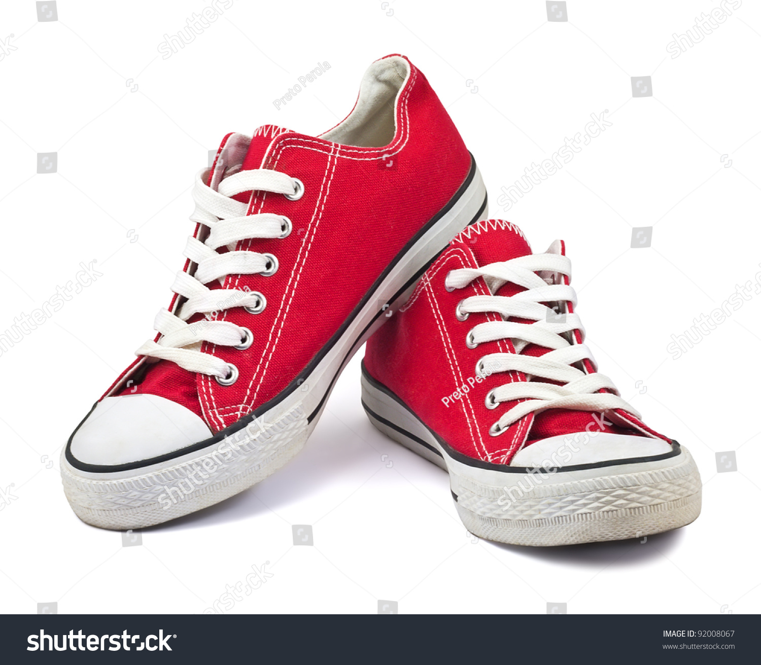 vintage red shoes on white background #92008067