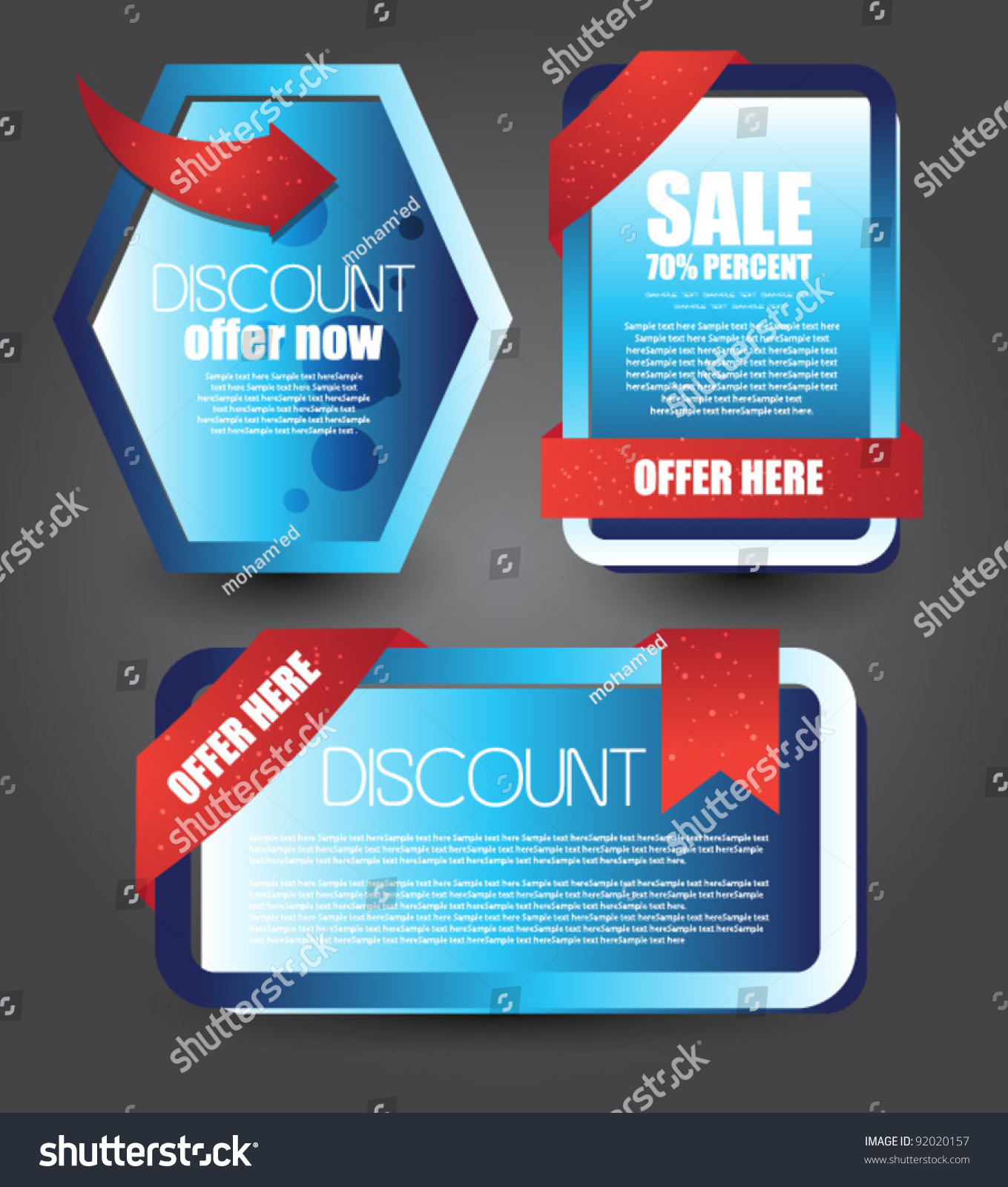 web templates advertisement stock vector 92020157 shutterstock web templates for and advertisement