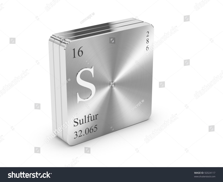 Sulfur element periodic table on metal stock illustration 92024117 sulfur element of the periodic table on metal steel block gamestrikefo Choice Image