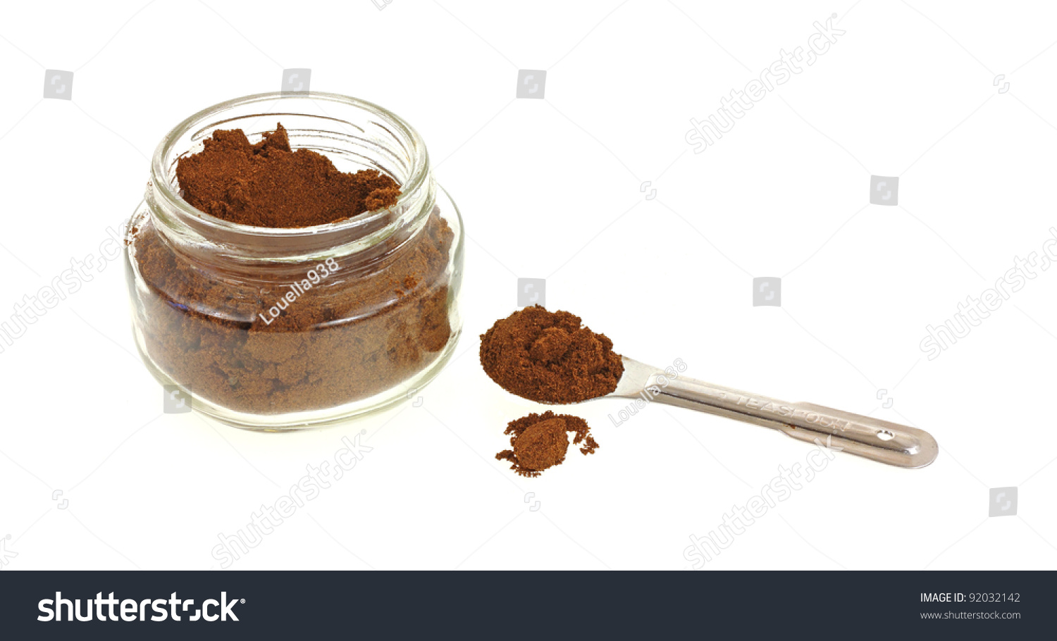 heaping spoon allspice small jar stock photo edit now 92032142