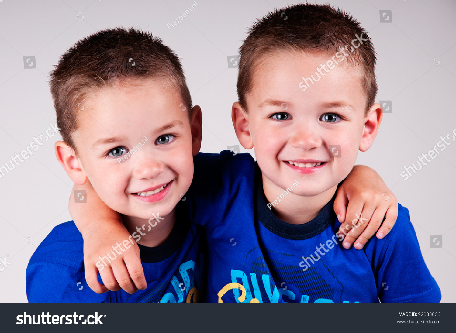 Adorable Twin Brothers Stock Photo 92033666 - Shutterstock