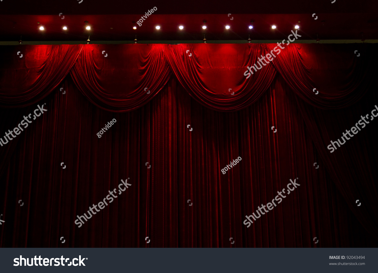 Cheap black stage curtains - Red Velvet Curtains Red Velvet Stage Theater Curtains Preview Save To A Lightbox