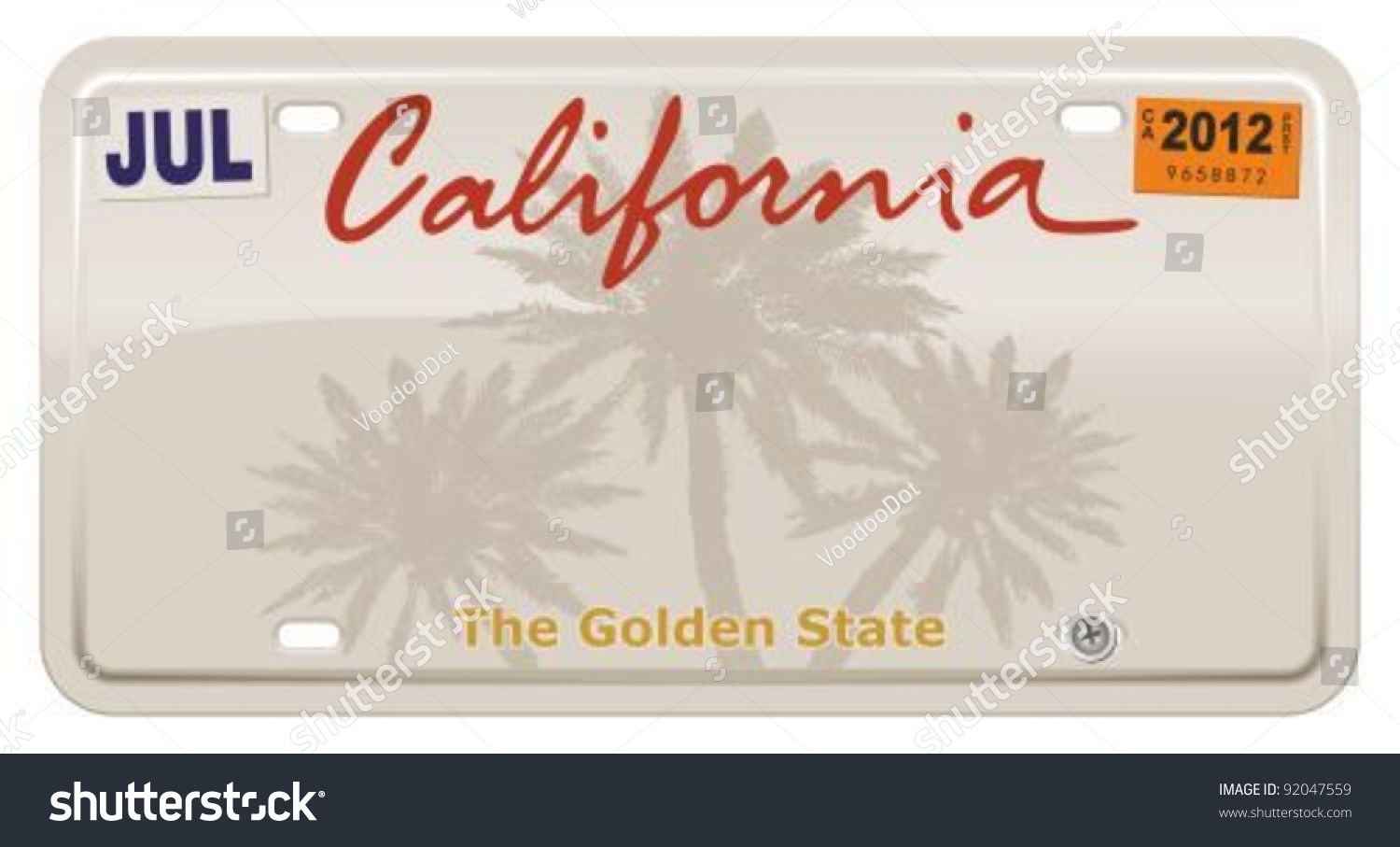 california license plate stock vector royalty free 92047559