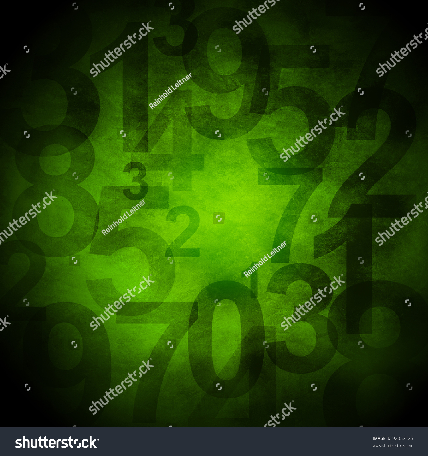 grunge background with numbers