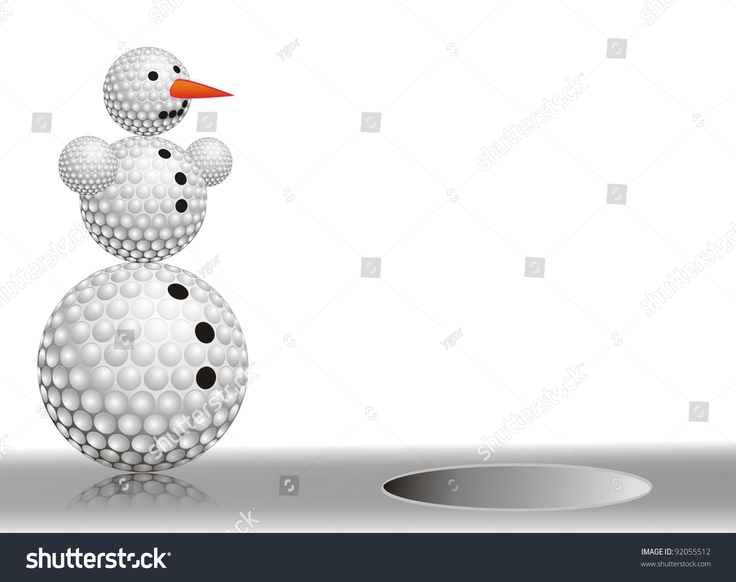 winter snowman made golf balls on stock photo 92055512 shutterstock
