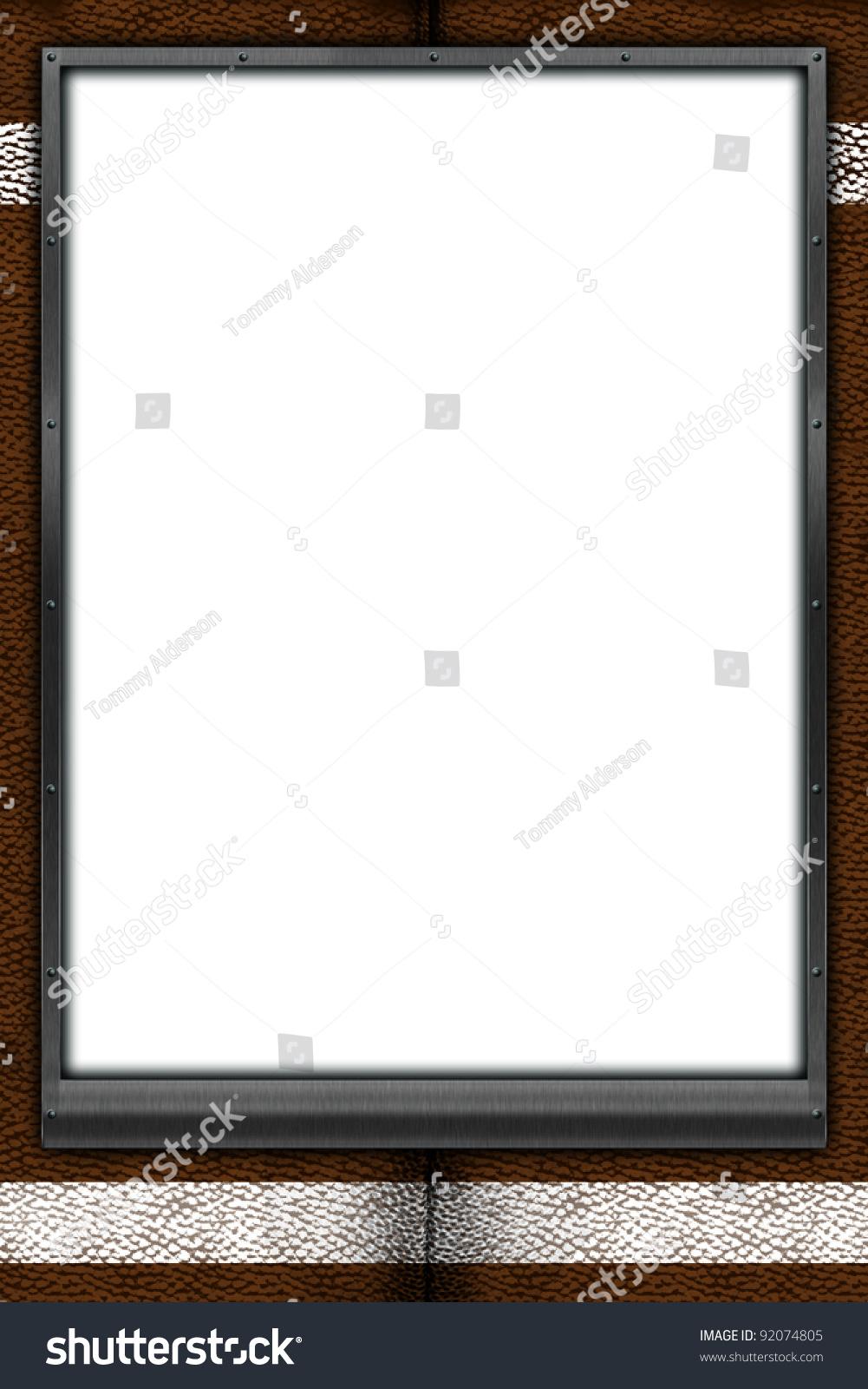 football themed mat frame 24x36 poster stock illustration 92074805 shutterstock. Black Bedroom Furniture Sets. Home Design Ideas