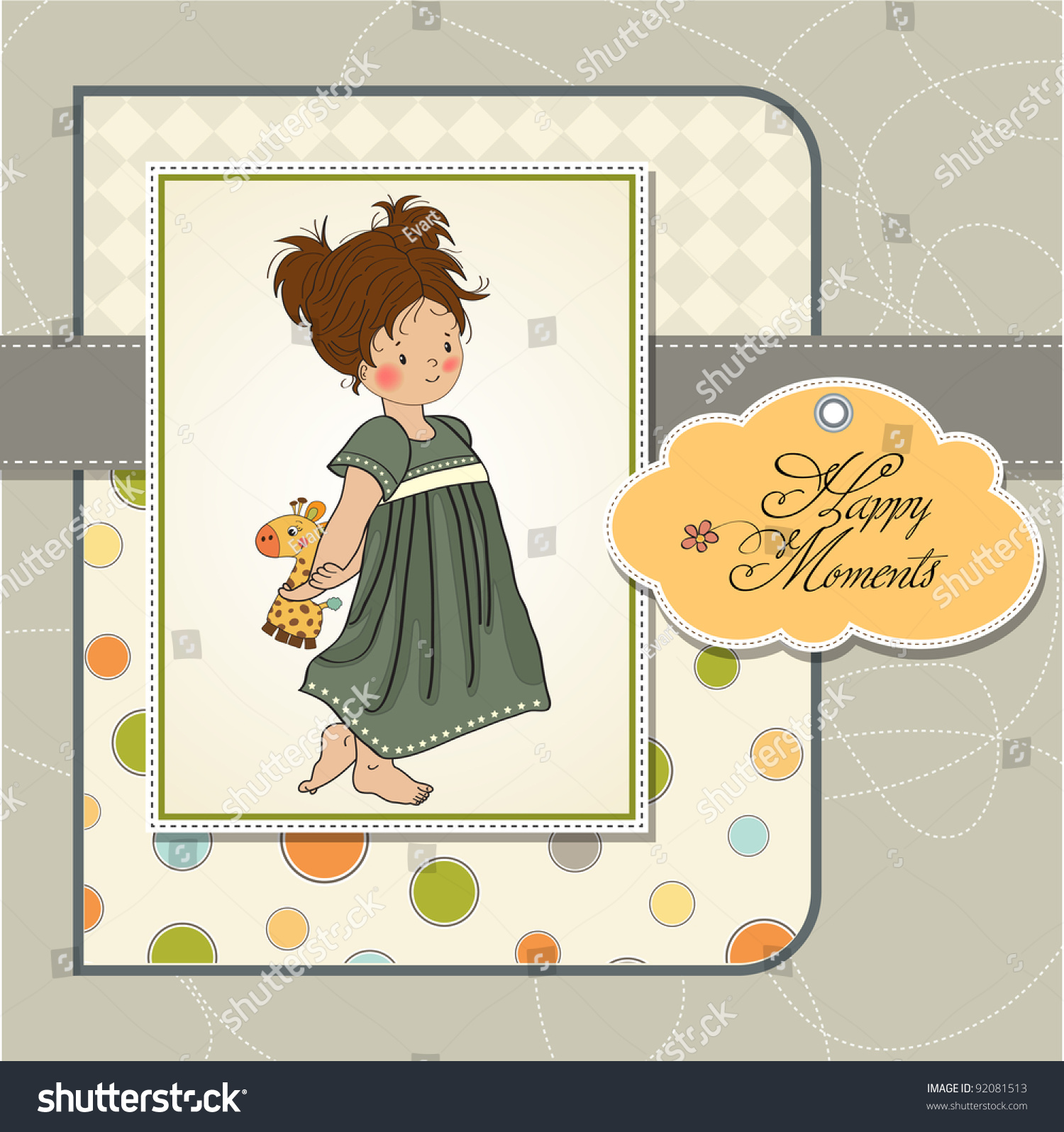 Young Girl Going Bed Her Toy Stock Vector Shutterstock