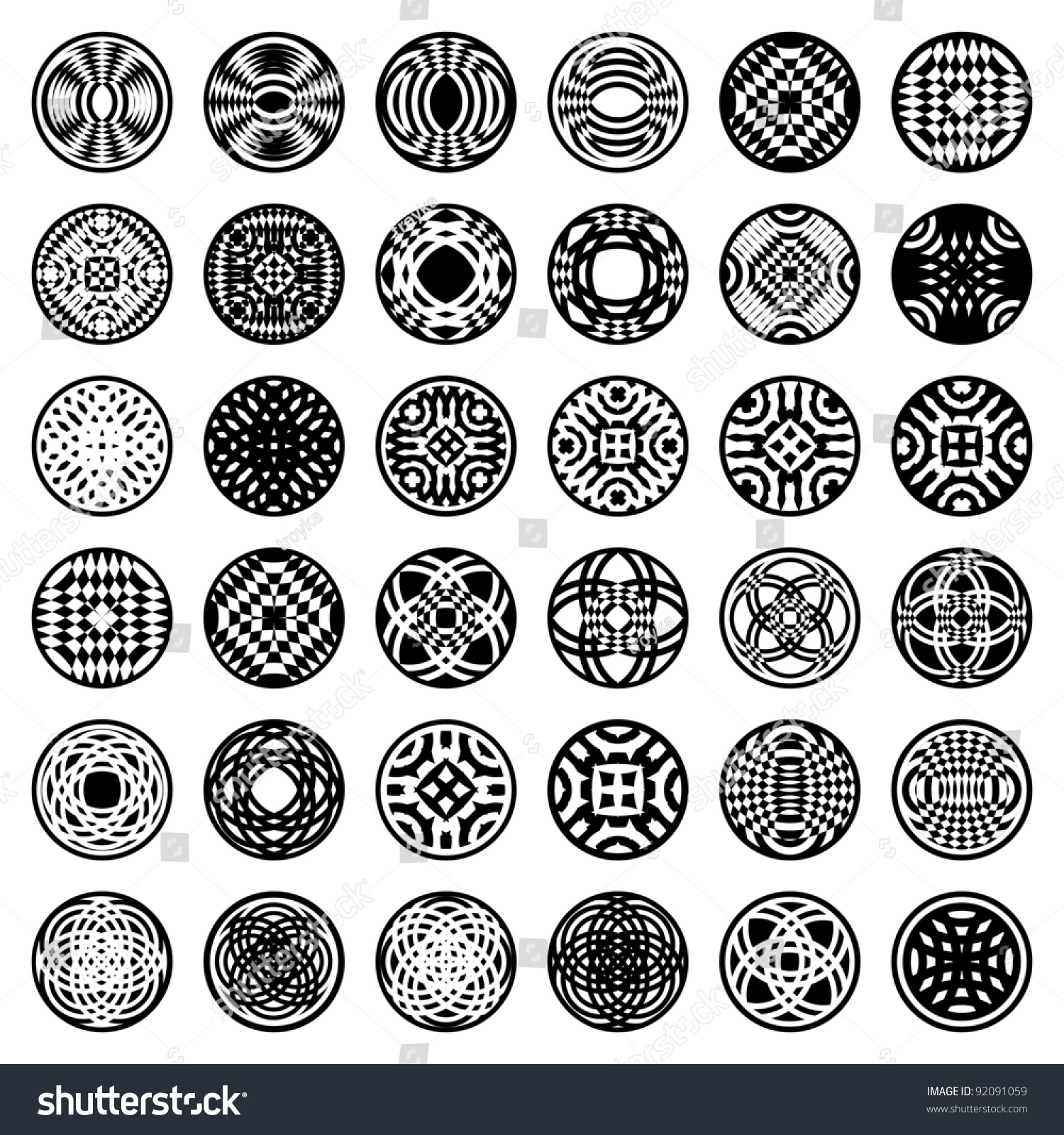 Worksheets Shape Design Patterns patterns circle shape 36 design elements stock vector 92091059 in set 2 art