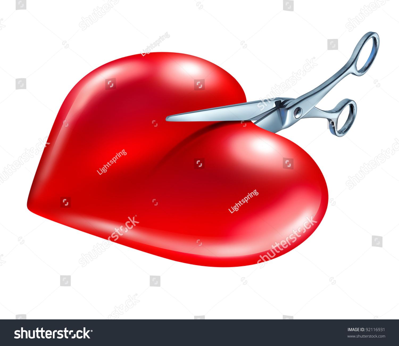 breaking off break symbol couple crisis stock illustration