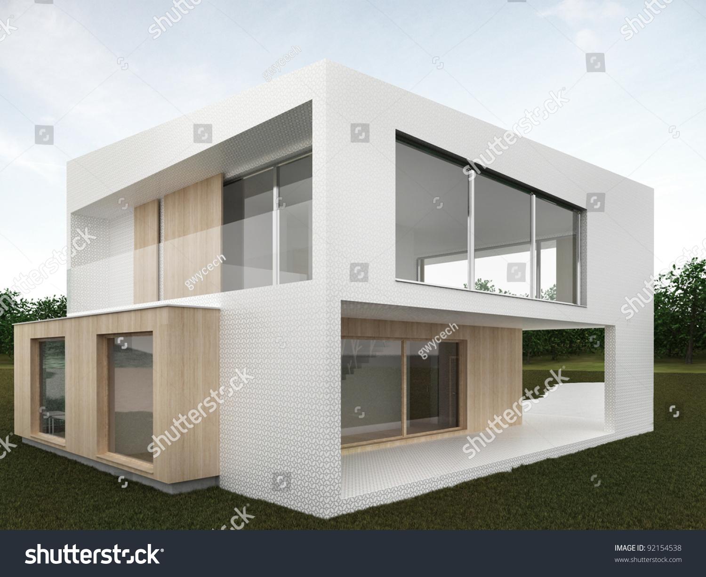 Backyard Of Modern House - omputer Generated Visualization ... - ^