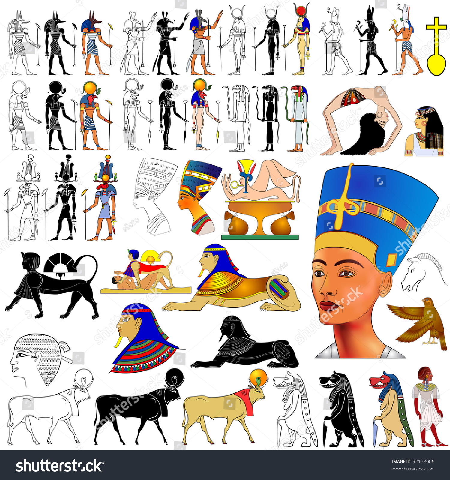 egyptian gods and godesses The history of ancient egypt is a vast and captivating story from our biblical forefathers to modern day scholars, many people have been fascinated by the egyptian gods and godesses.
