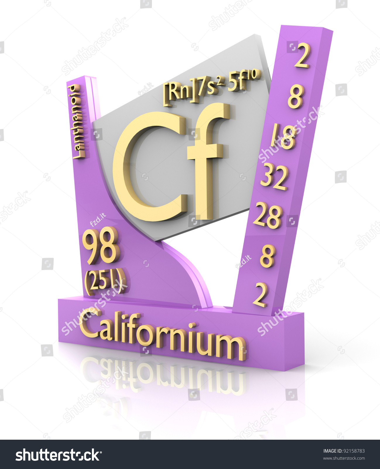 Californium form periodic table elements 3d stock illustration californium form periodic table of elements 3d made gamestrikefo Images