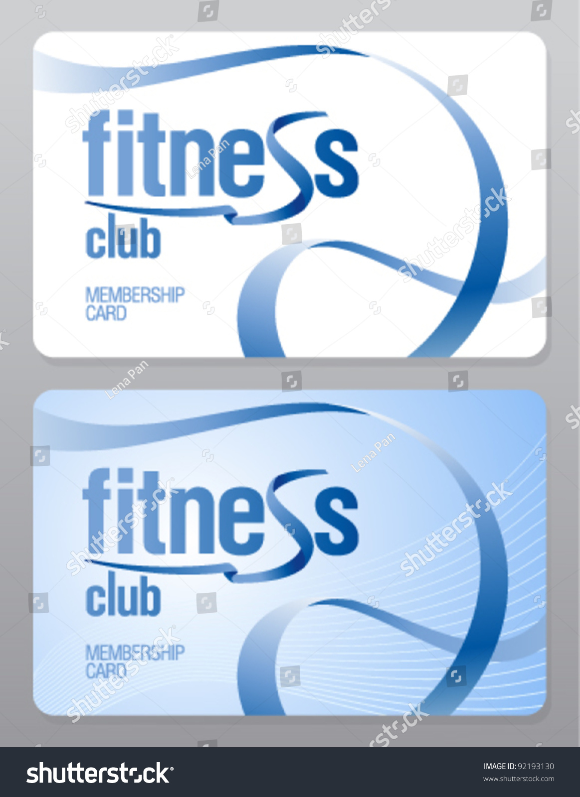 Fitness Club Membership Card Design Template Vector 92193130 – Membership Cards Template