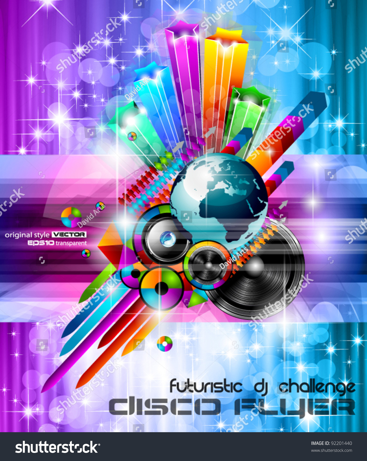 Poster Background For Music International Disco Event With ...