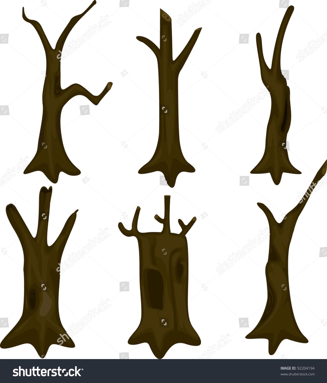 Vector Illustration Tree: Illustration Tree Trunk Stock Vector 92204194