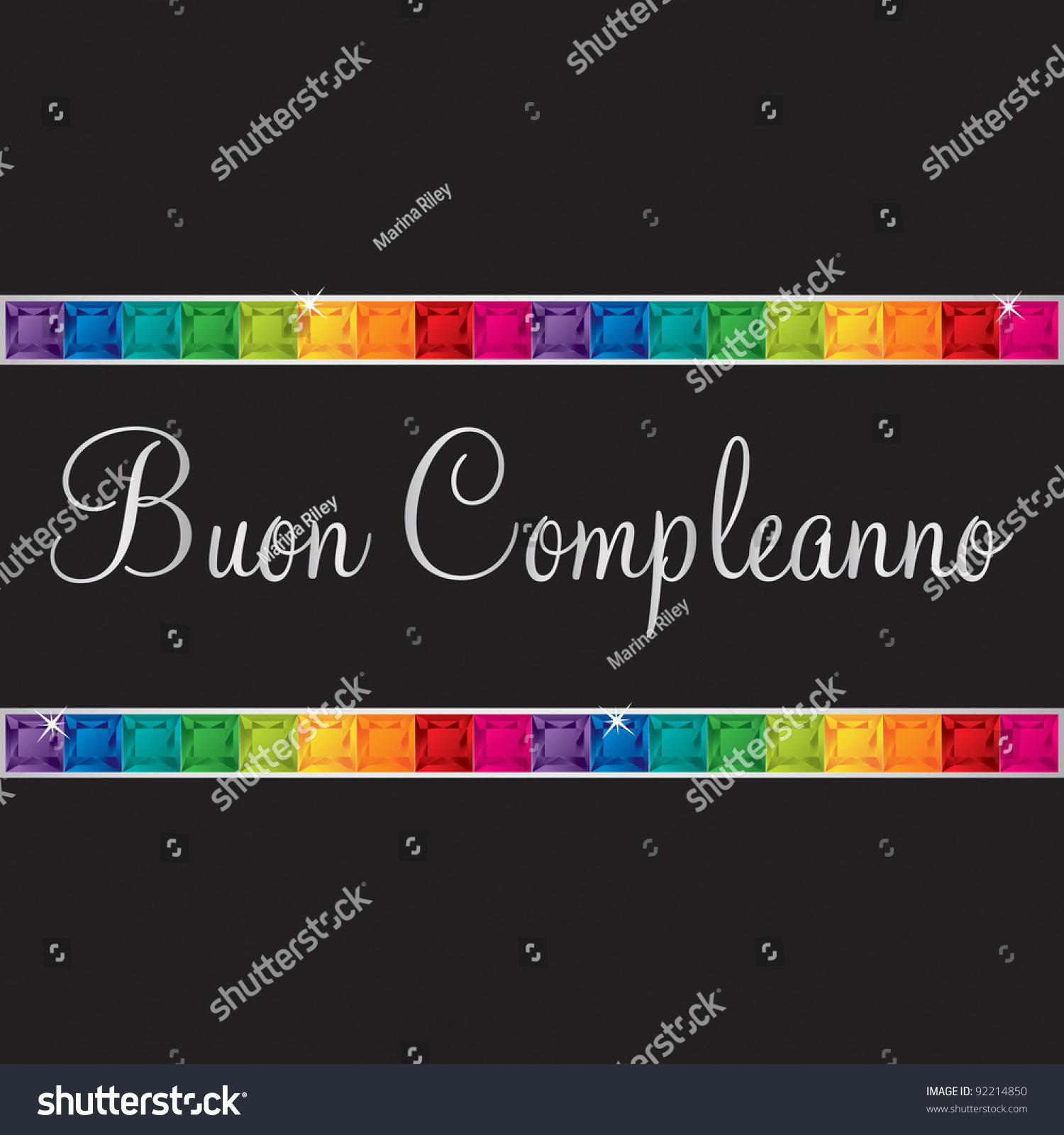 Italian Happy Birthday Card Vector Format Vector 92214850 – Happy Birthday Greetings in Italian