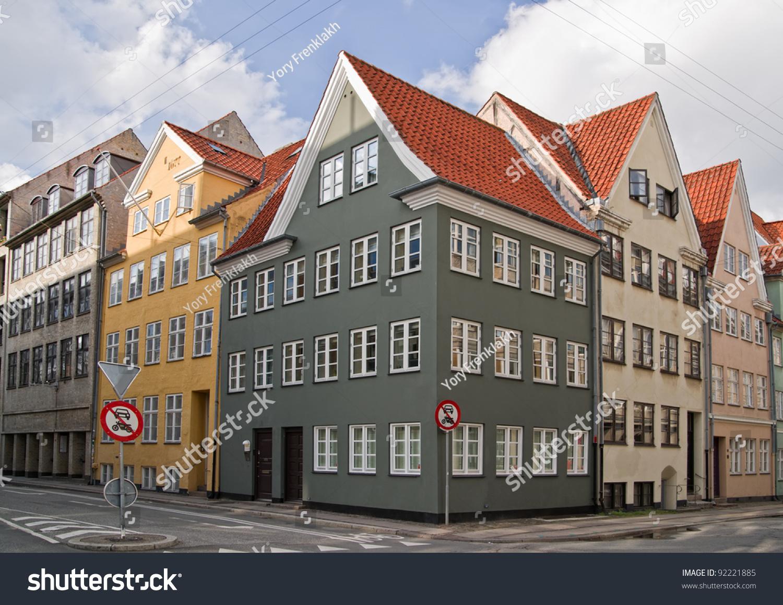 Apartment Houses Colorful Old Apartment Houses Copenhagen Denmark Stock Photo