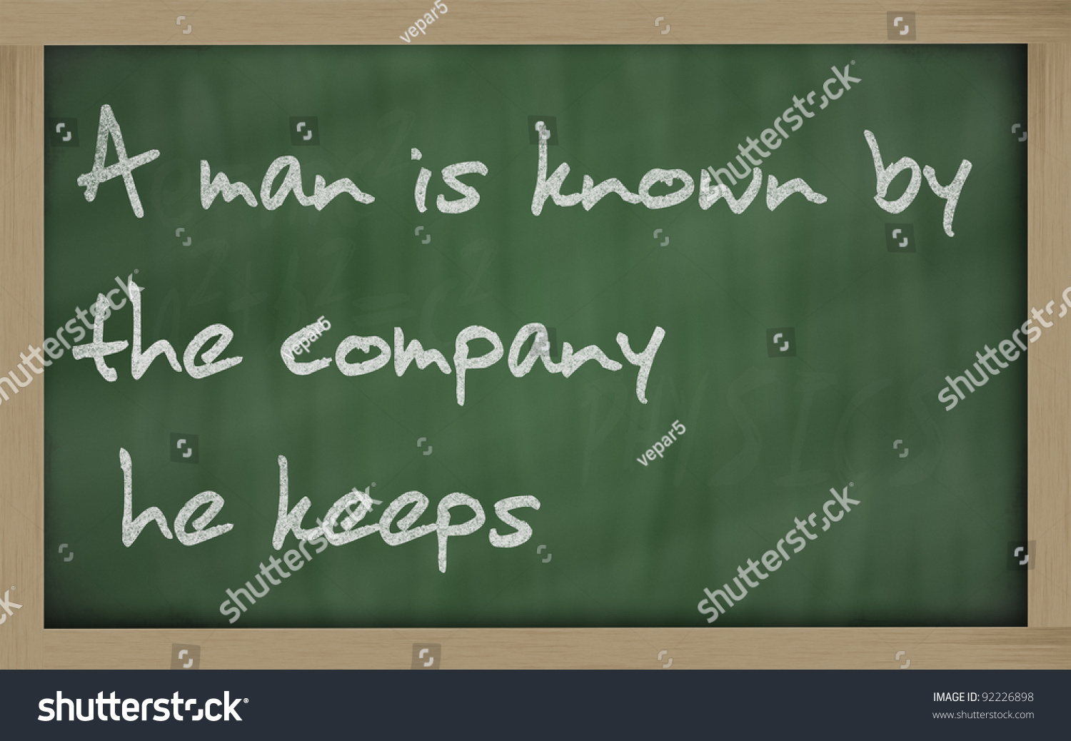 Man is known by the company he keeps essay