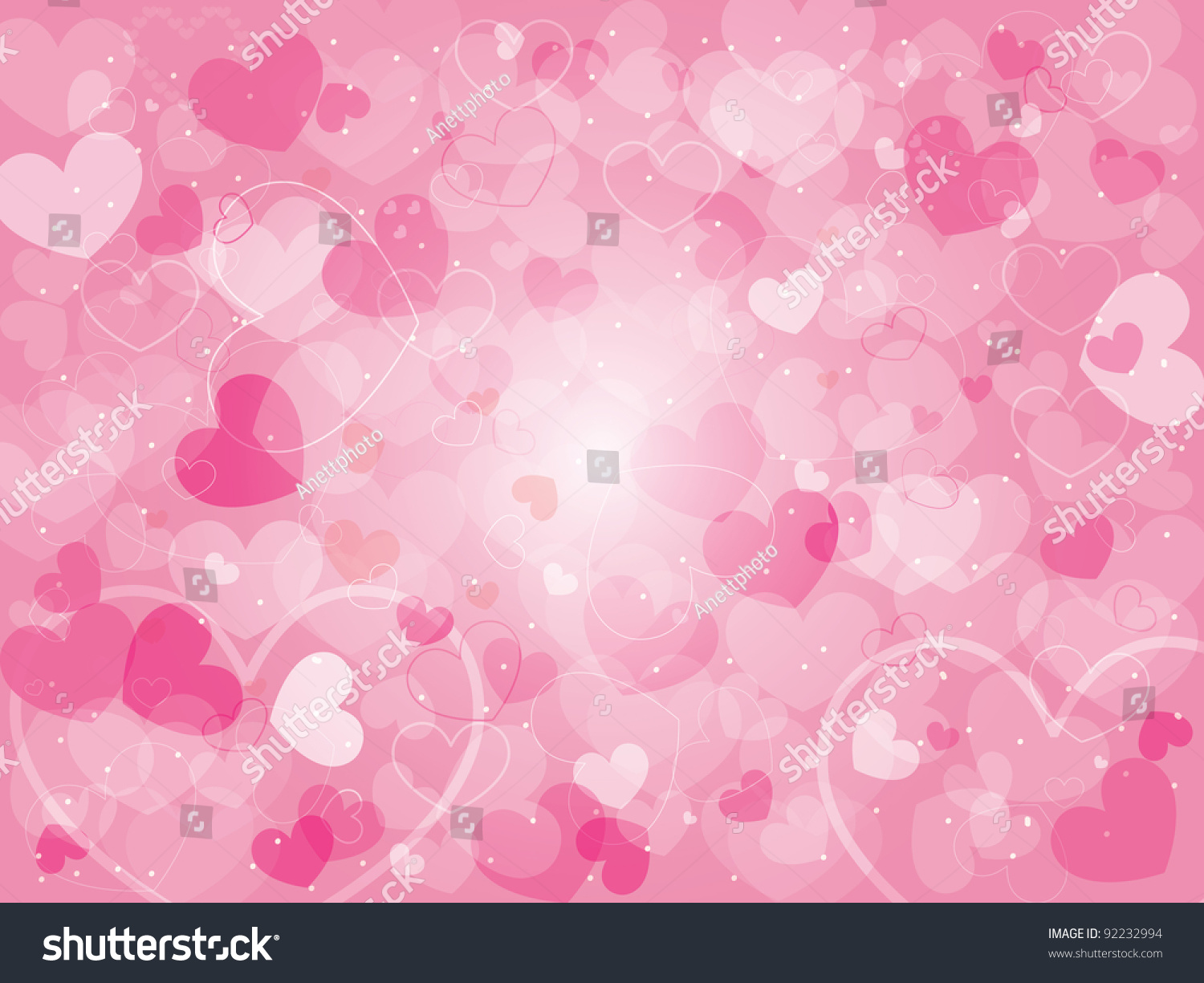 Valentines Day Background Hearts Stock Vector 92232994 - Shutterstock