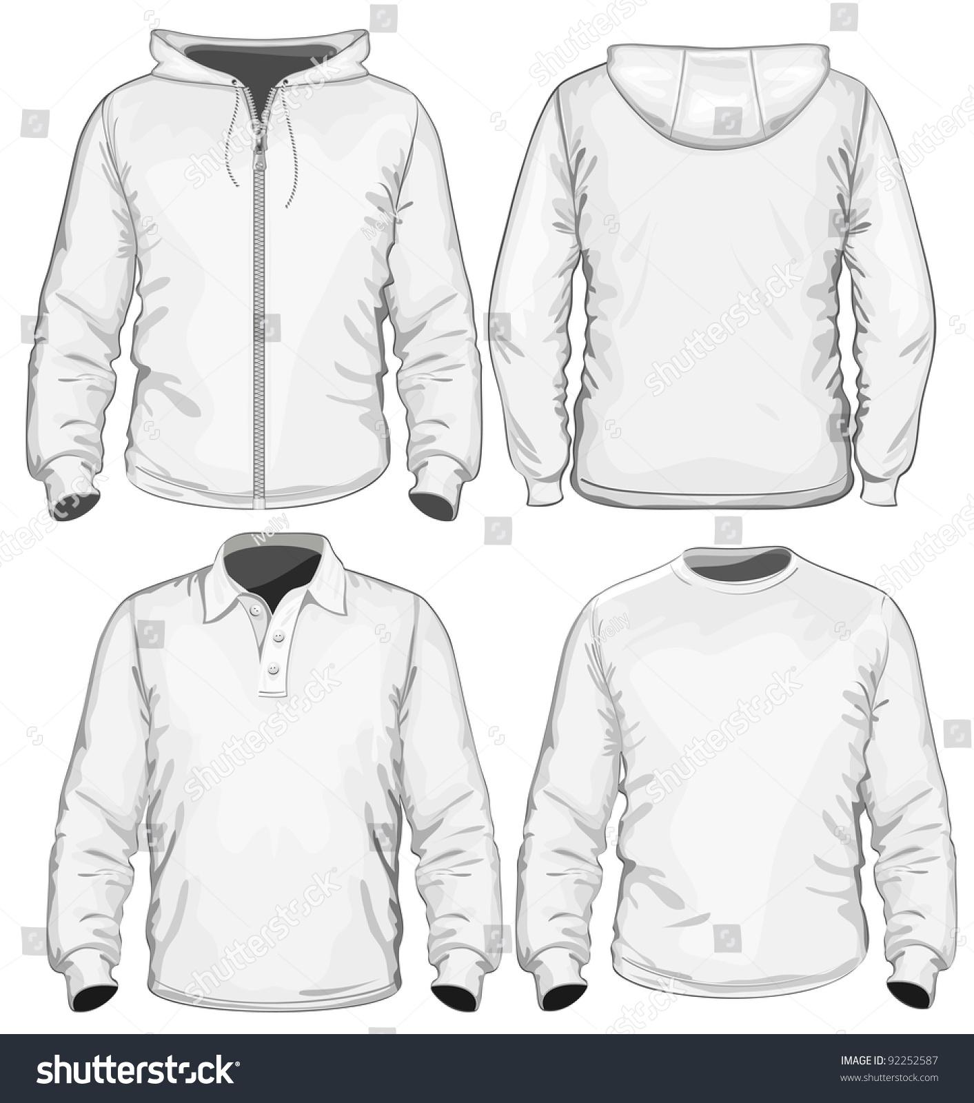 Shirt design vector pack - Amazing Vector Set Men S Polo Shirt T Shirt And Sweatshirt Long