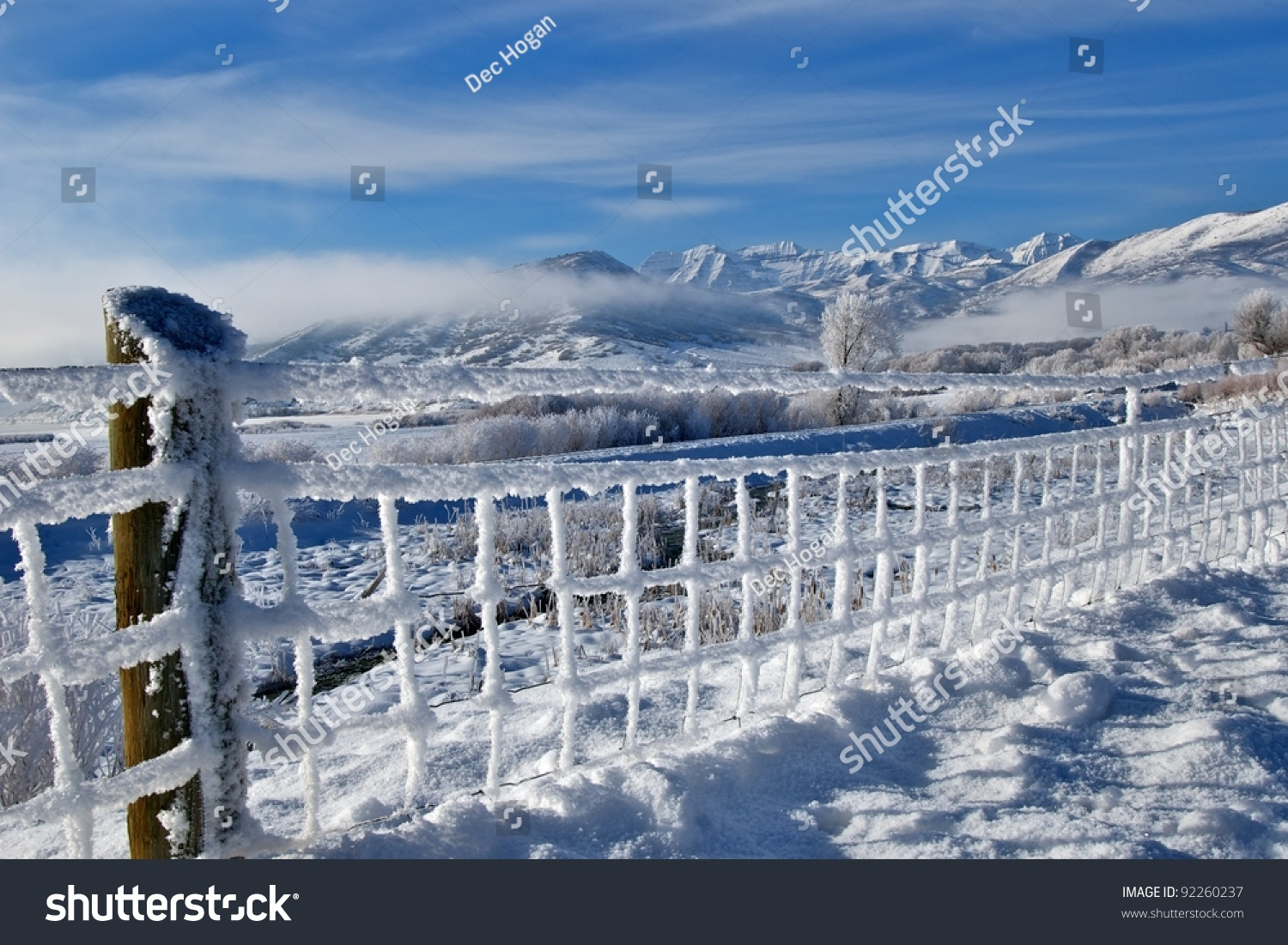 Winter Frosted Landscape Wasatch Mountains Utah Stock Photo 92260237 Shutt