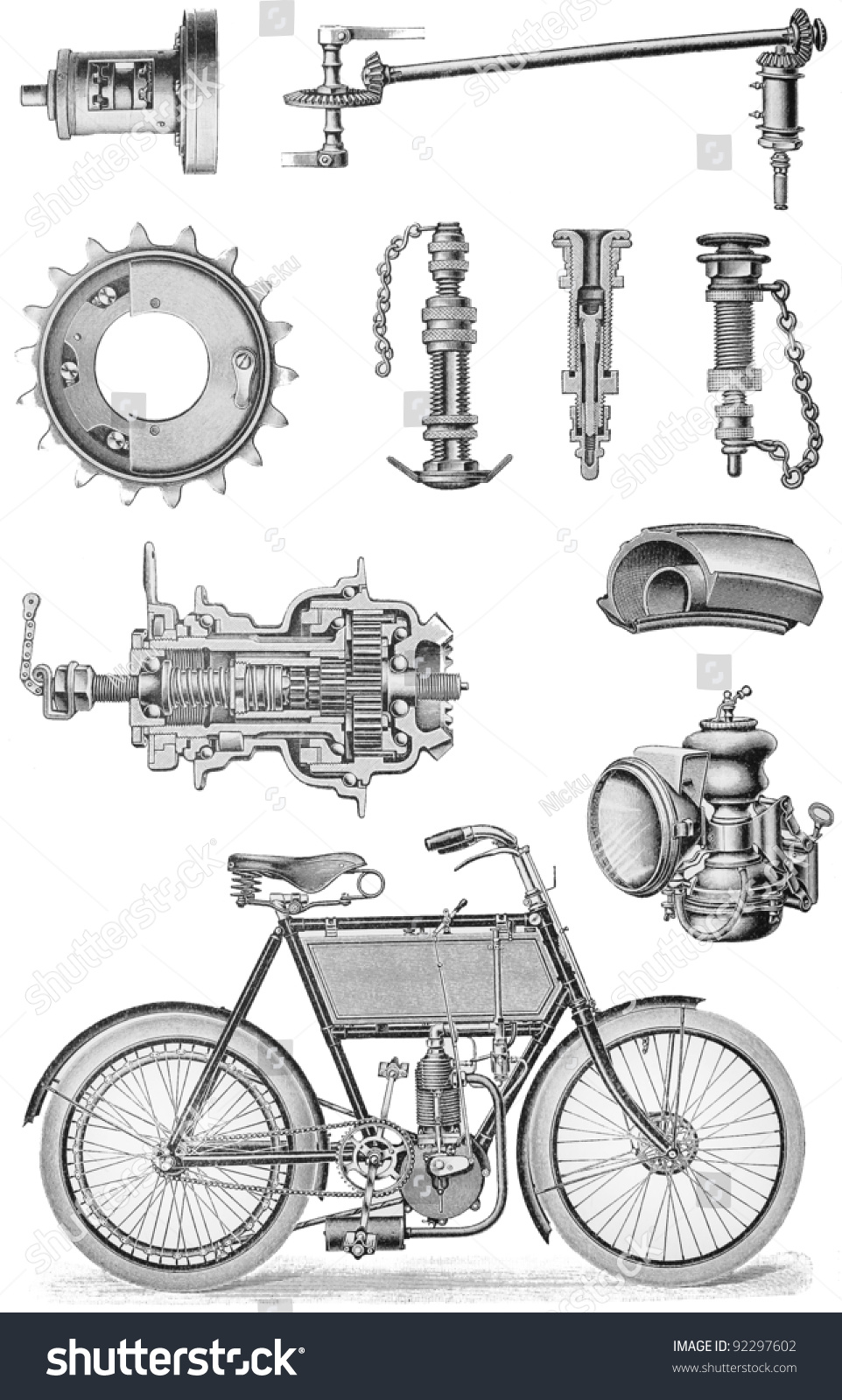 Motorcycle Diagram Drawing Circuit Connection Of Engine 1340 Evo Free Image For User Harley Motors Diagrams