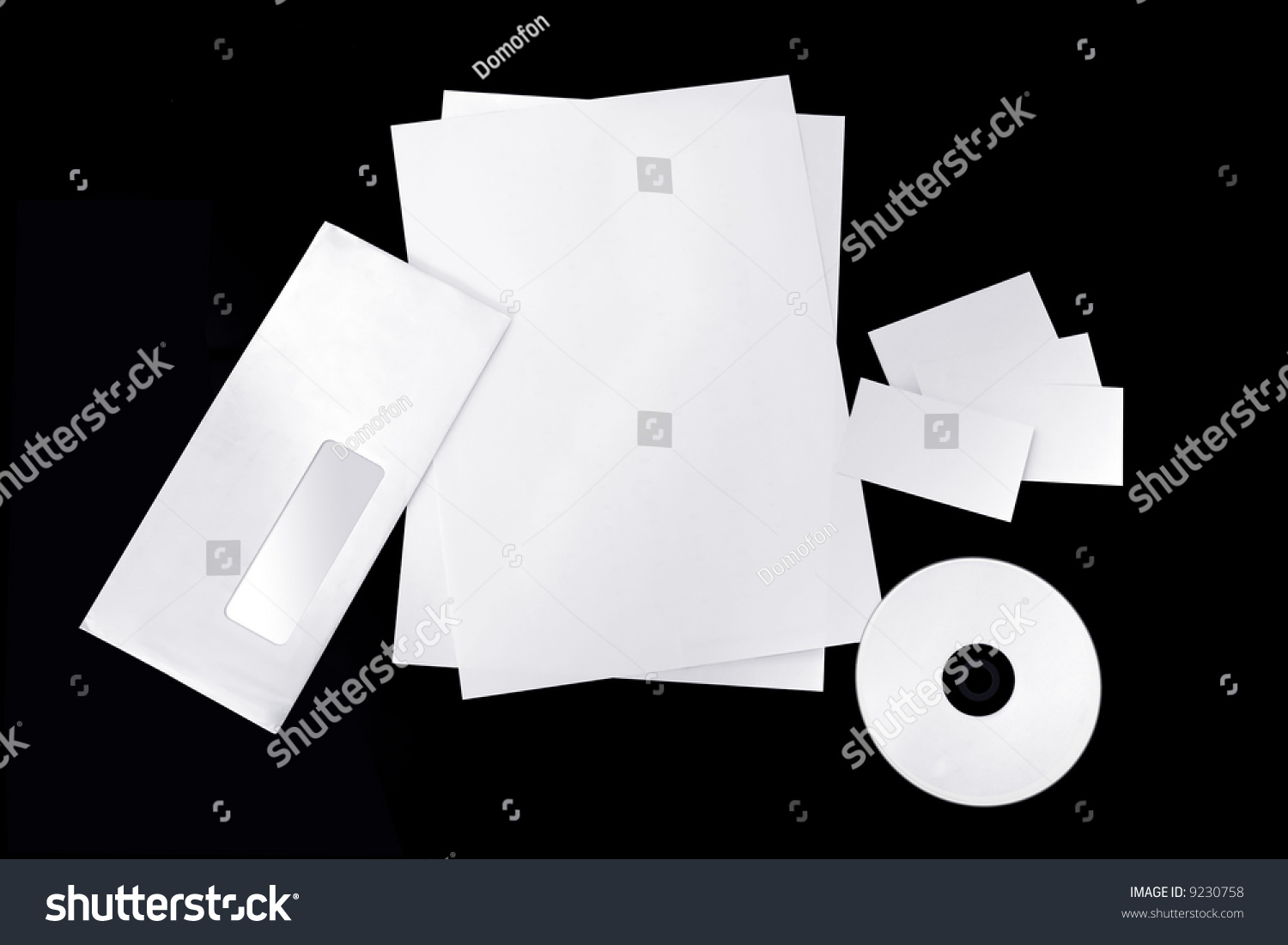 Isolated Blank Corporate Envelope Business Cards Stock Photo 9230758 ...