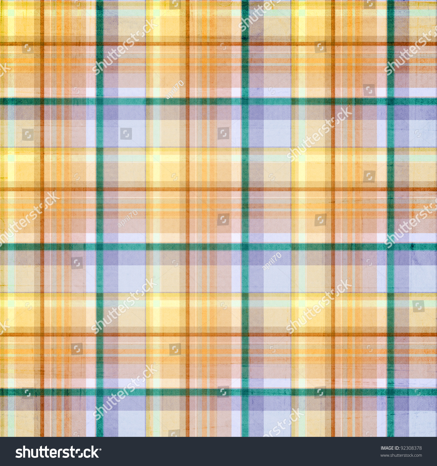 Plaid Striped Background Pastel Blue Green Stock